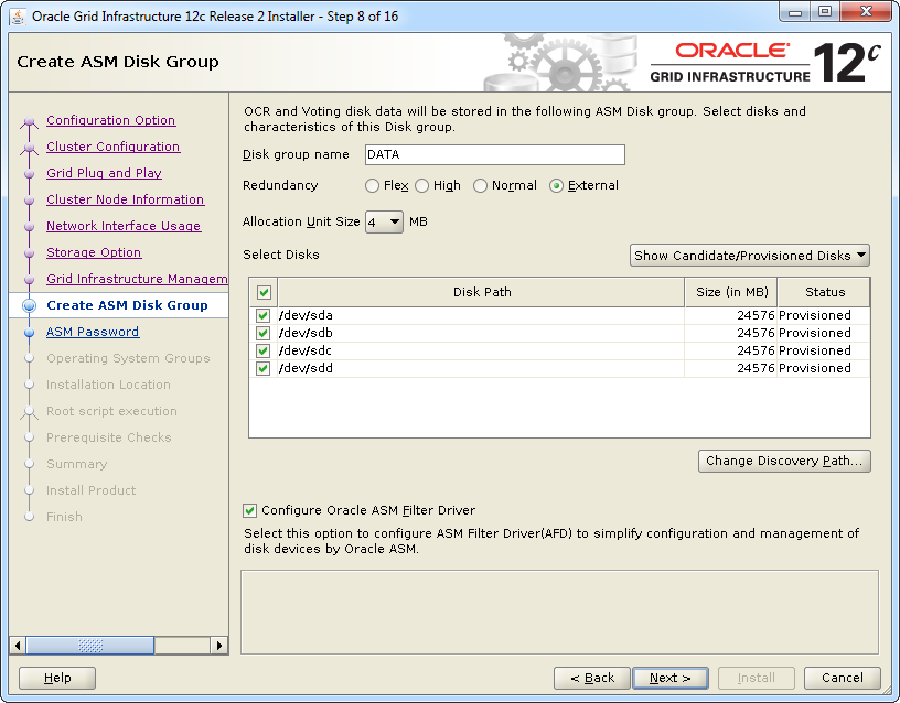 Install Oracle Grid Infrastructure 12cR2 for RAC - UxOra