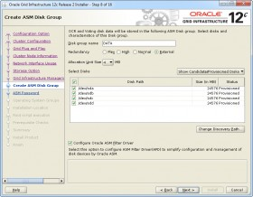 Oracle GI 12c R2 Installer - Step 8