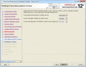 Oracle GI 12c R2 Installer - Step 12