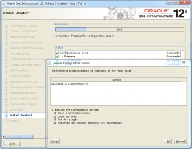 Oracle GI 12c R2 Installer - Step 17 - Execute scripts