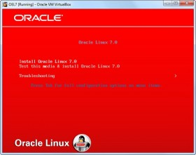 Install Oracle Linux 7 on VirtualBox